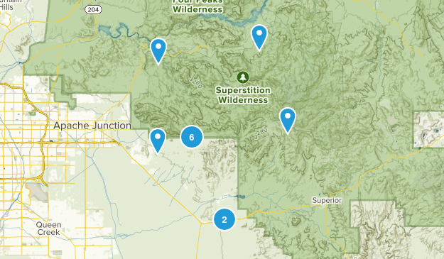 Gold Canyon, Arizona Wildlife Map