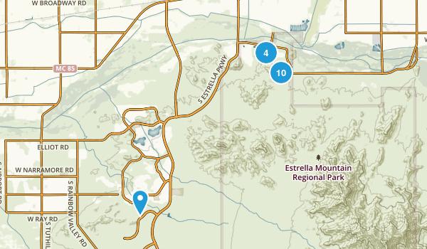 Goodyear, Arizona Dogs On Leash Map