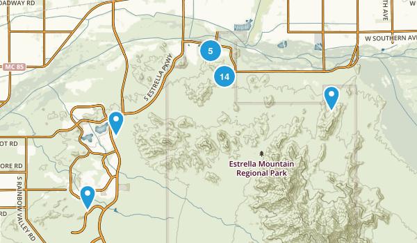 Goodyear, Arizona Hiking Map
