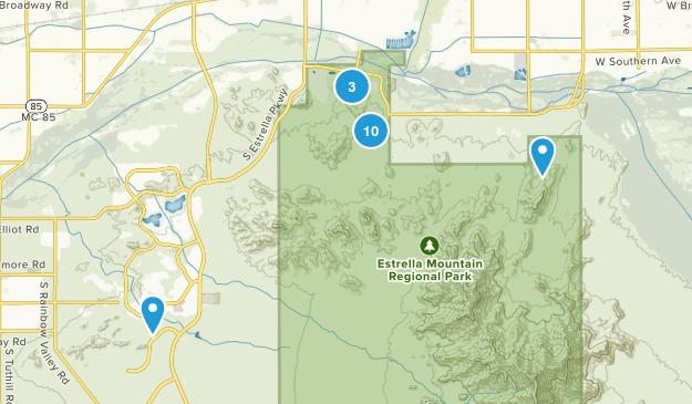 Goodyear, Arizona Mountain Biking Map