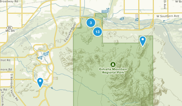 Goodyear, Arizona Trail Running Map