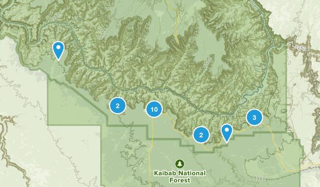 Grand Canyon, Arizona Camping Map