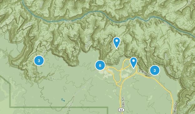 Grand Canyon Village, Arizona Hiking Map