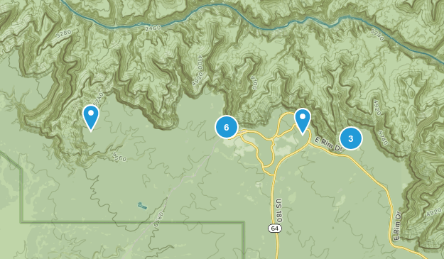 Grand Canyon Village, Arizona Nature Trips Map