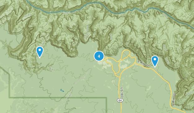 Grand Canyon Village, Arizona Trail Running Map