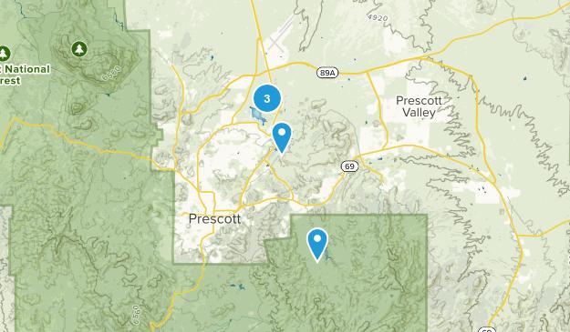 Granite Dells, Arizona Hiking Map