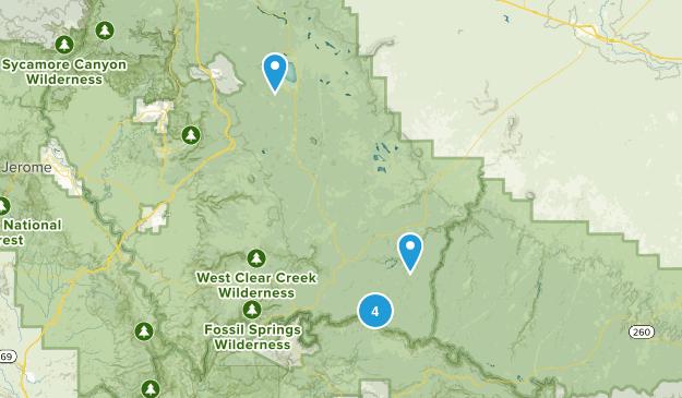 Happy Jack, Arizona Forest Map