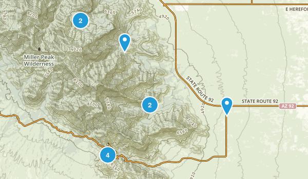 Hereford, Arizona Dogs On Leash Map
