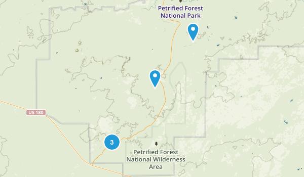 Holbrook, Arizona Hiking Map