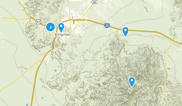 Kingman, Arizona Bird Watching Map