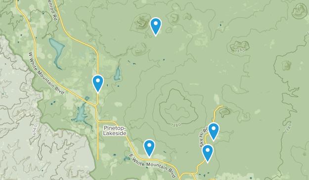 Lakeside, Arizona Hiking Map