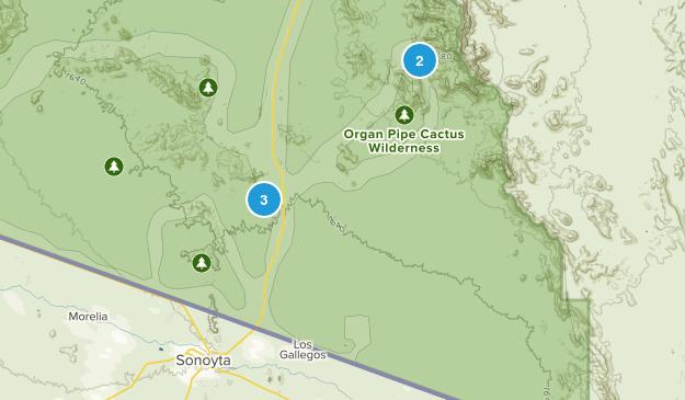 Lukeville, Arizona Hiking Map