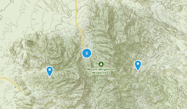 Madera Canyon, Arizona Camping Map