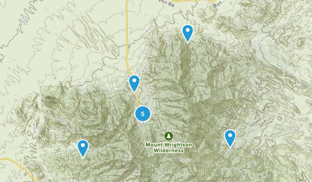 Madera Canyon, Arizona Forest Map