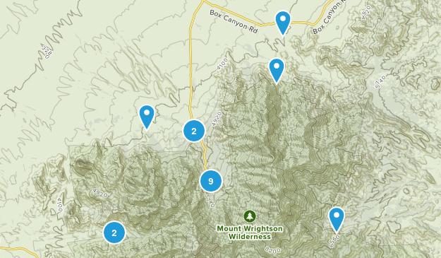 Madera Canyon, Arizona Hiking Map