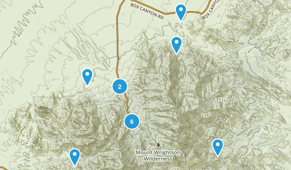 Madera Canyon, Arizona Walking Map