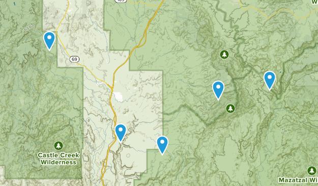Mayer, Arizona Hiking Map