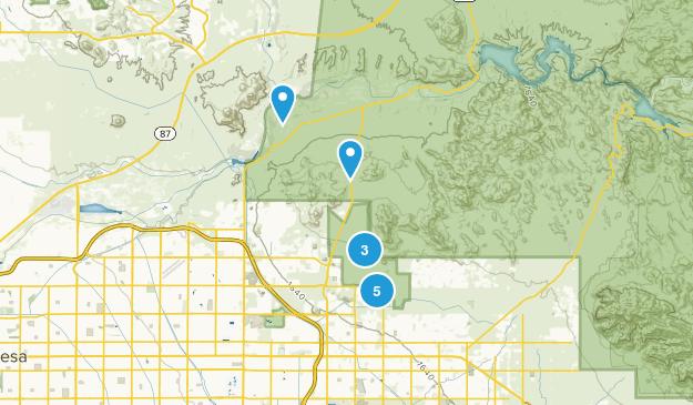 Mesa, Arizona Horseback Riding Map