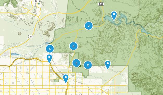 Mesa, Arizona Nature Trips Map