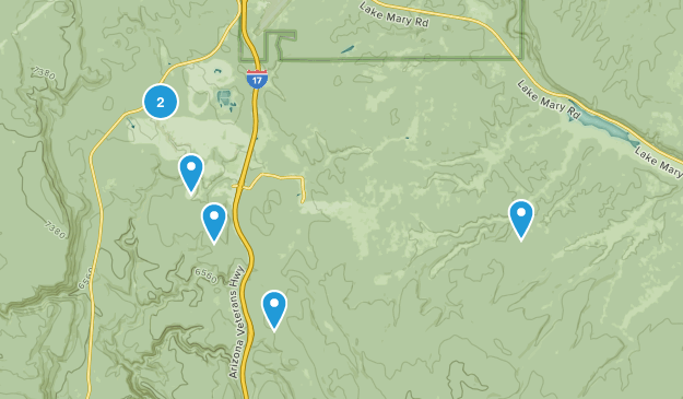 Mountainaire, Arizona Hiking Map