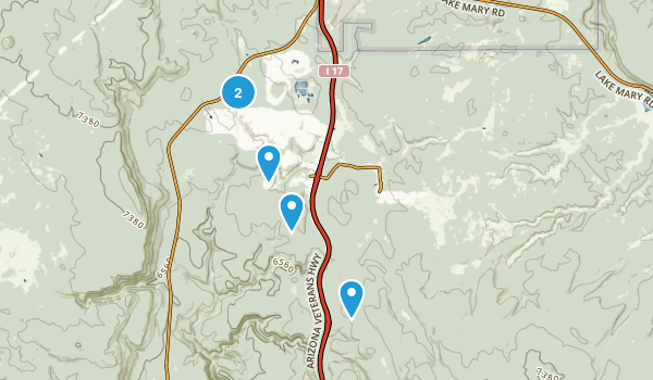 Mountainaire, Arizona Walking Map