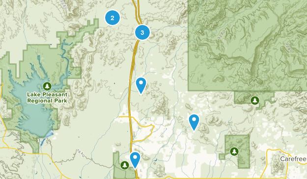 New River, Arizona Hiking Map