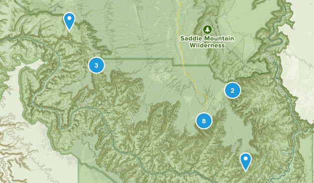 North Rim, Arizona Birding Map