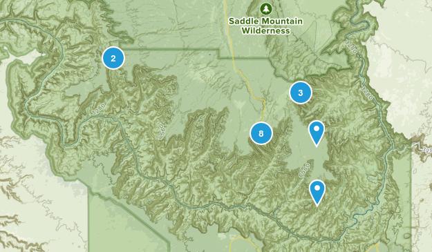North Rim, Arizona Wild Flowers Map