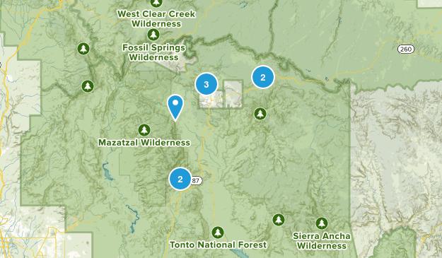 Payson, Arizona Camping Map