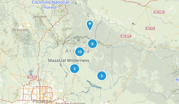 Payson, Arizona Dogs On Leash Map