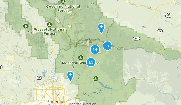 Payson, Arizona Hiking Map