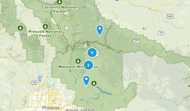 Payson, Arizona Trail Running Map