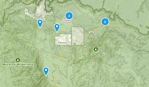 Payson, Arizona Waterfall Map