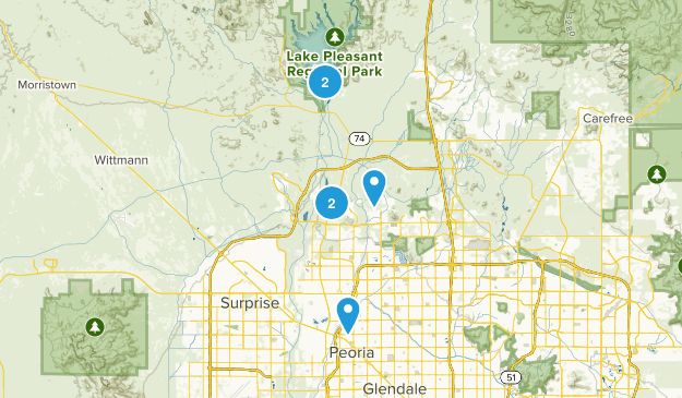 Peoria, Arizona Dogs On Leash Map