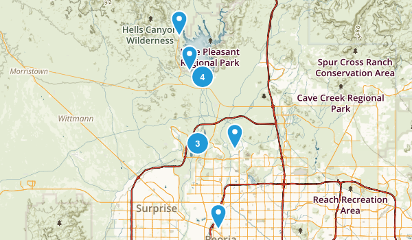 Peoria, Arizona Hiking Map