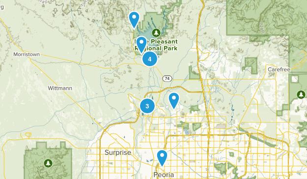 Peoria, Arizona Hiking Map