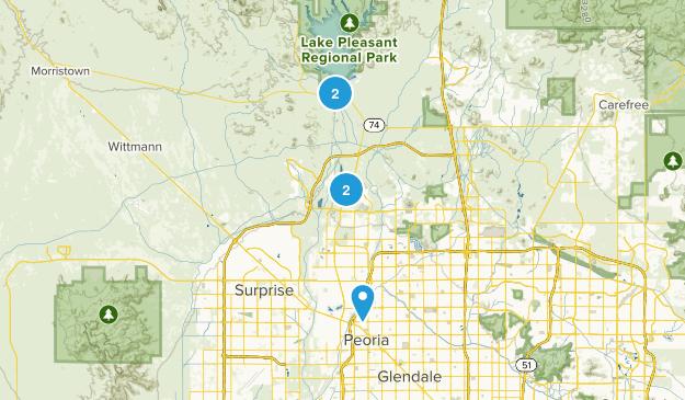 Peoria, Arizona Mountain Biking Map