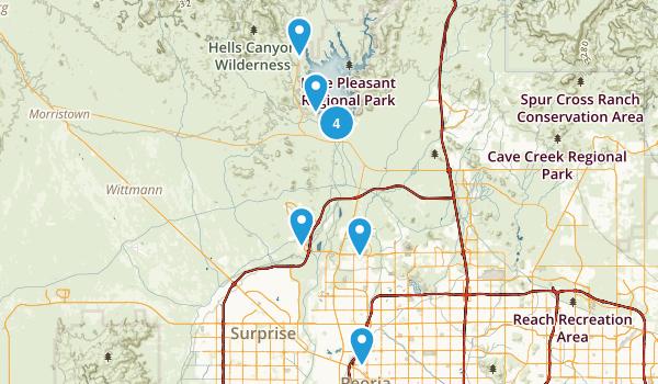 Peoria, Arizona Walking Map