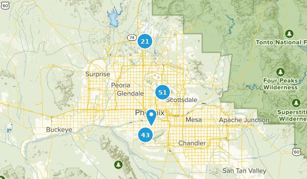 Phoenix, Arizona Birding Map