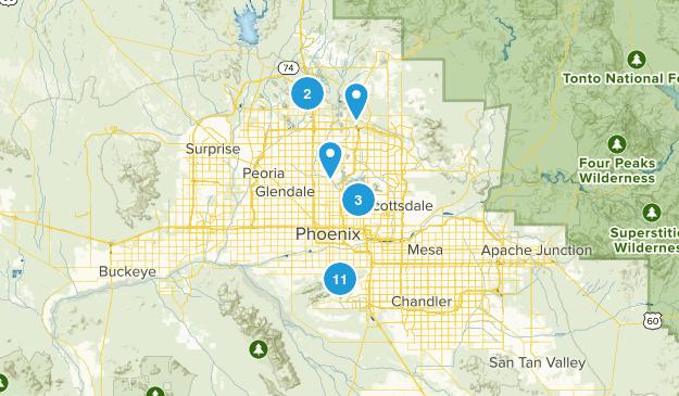 Phoenix, Arizona Dog Friendly Map