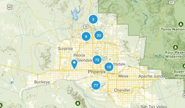 Phoenix, Arizona Hiking Map