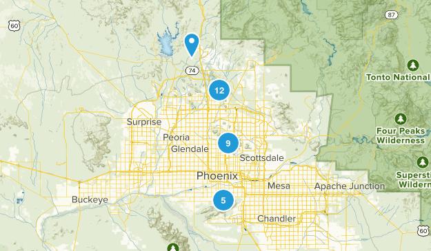 Phoenix, Arizona Horseback Riding Map