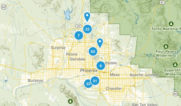 Phoenix, Arizona Nature Trips Map