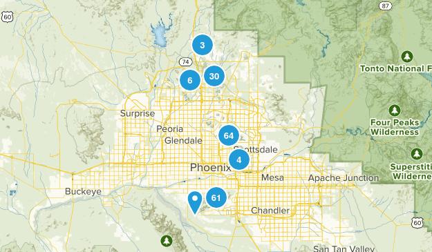 Phoenix, Arizona Views Map