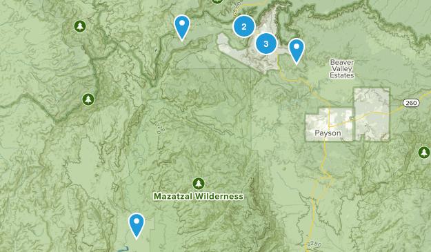 Pine, Arizona Hiking Map