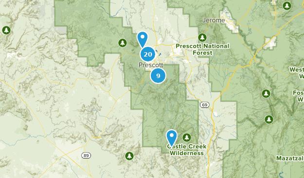 Map Of Trails Near Prescott Arizona Alltrails