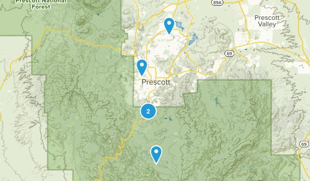 Prescott, Arizona River Map