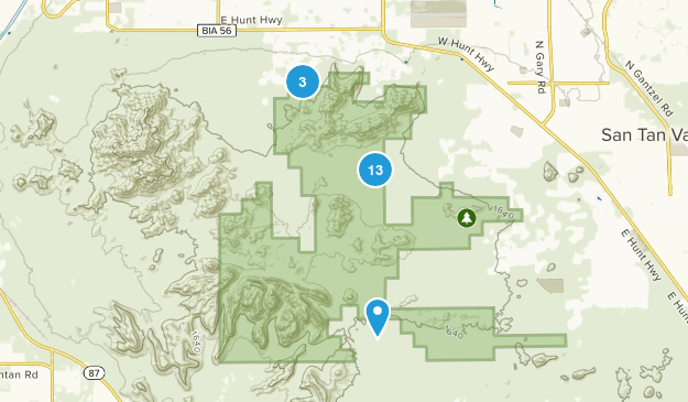 Queen Creek, Arizona Mountain Biking Map