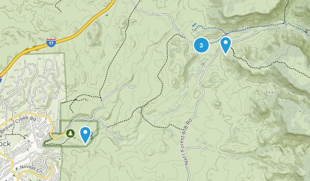 Rimrock, Arizona Dogs On Leash Map