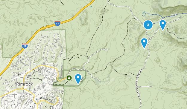 Rimrock, Arizona Hiking Map